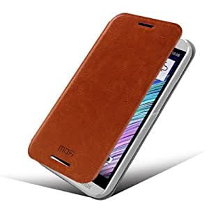 Amtonseeshop Latest Popular Hot Sales Mofi Case Slim Flip Leather Case for HTC One 2 M8 (Brown)