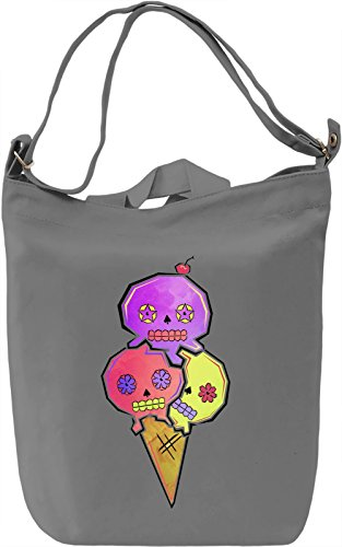 Sugar Skull Ice Cream Borsa Giornaliera Canvas Canvas Day Bag| 100% Premium Cotton Canvas| DTG Printing|