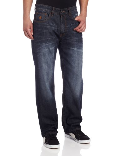 Rocawear Men's Flame Stitch Original Fit Core Jean, Dark Wash, 36X32 ()