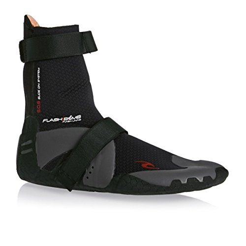 Rip Curl Flashbomb 3mm Hid S/Toe Boots, 8, Black/Black by Rip Curl