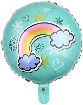 Rainbow Balloons Smile Cloud Birthday Party Decorations Aluminum Foil Balloons