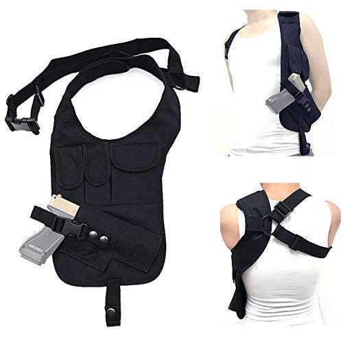FIRECLUB Outdoor Multi-Function Tactical Pistol Hidden Gun Holster Hiking Under Shoulder Helmet Single Shoulder Vest Bag Pouch Pouches