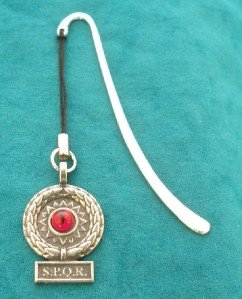 Victory Standard (Red Gem) Bookmark in English Pewter (With Gift Box)