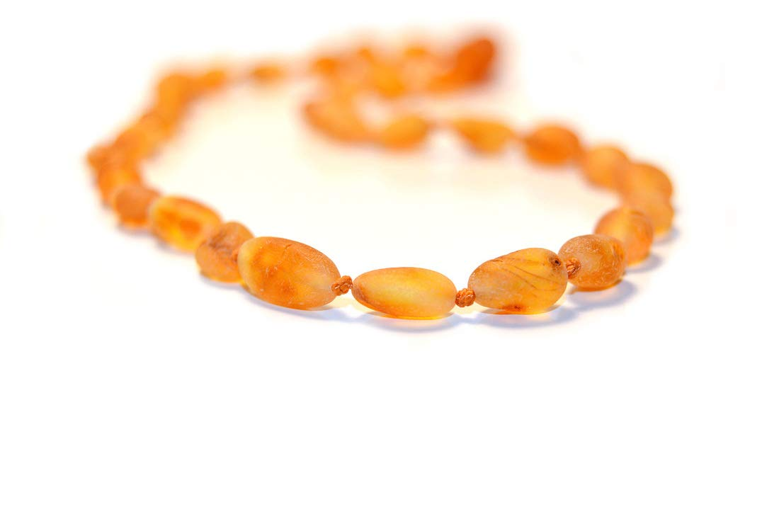 The Art of Cure Baltic Amber Necklace 17 Inch (Bean raw butterscotch) - Anti-inflammatory by The Art of Cure