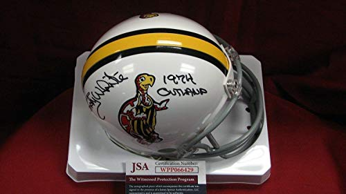 Randy White Autographed Signed Memorabilia Maryland Custom White Mini Helmet With 1974 Outland - JSA Authentic
