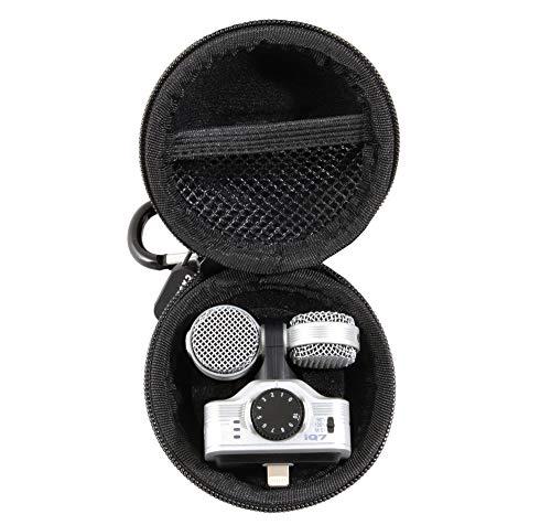CASEMATIX Microphone Case Fits One Zoom IQ7, Zoom IQ6, or Zoom IQ5 Stereo Microphone for iOS Devices