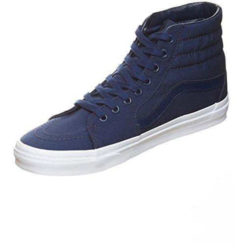 36c78d18bca5 Galleon - Vans SK8-Hi (Mono Canvas) Skate Shoe Dress Blues True White Size  6 Men 7.5 Women