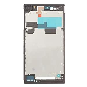 Front iPartsBuy Housing LCD Bezel Plate Frame Replacement for Sony Xperia Z Ultra, XL39h/C6802 (Black)