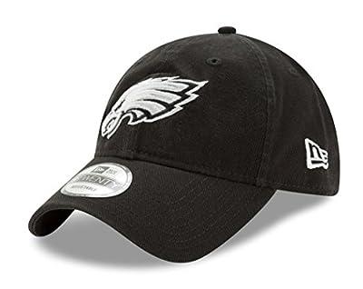 Philadelphia Eagles New Era NFL 9Twenty Twill Core Classic Adjustable Black Hat from New Era