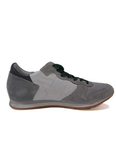 1dca7caaa0 Aeronautica Militare Scarpe Sneakers Pelle Grigio Bianco Verde n. 42 ...