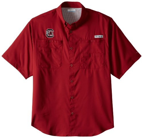 NCAA South Carolina Fighting Gamecocks Men's Collegiate Tamiami Shirt, Beet, XX-Large