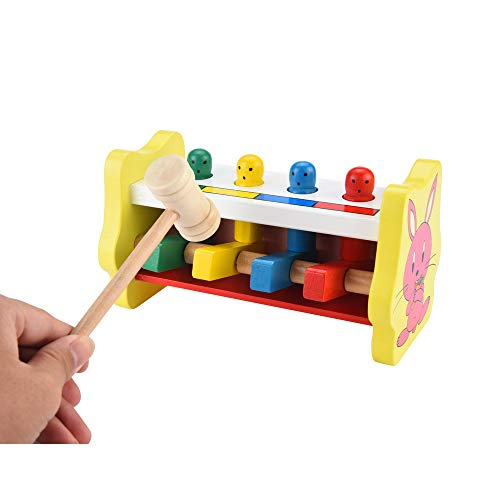 Musical Toys for Kids Wooden Hammering Pounding Toys Xylopho