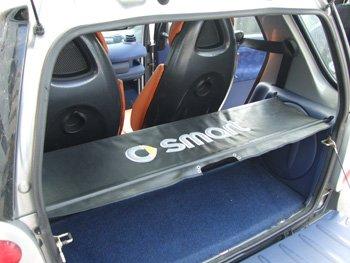 Kofferraumabdeckung TLS Smart ForTwo 450 Schwarz 1998-2006 New Laderaumabdeckung