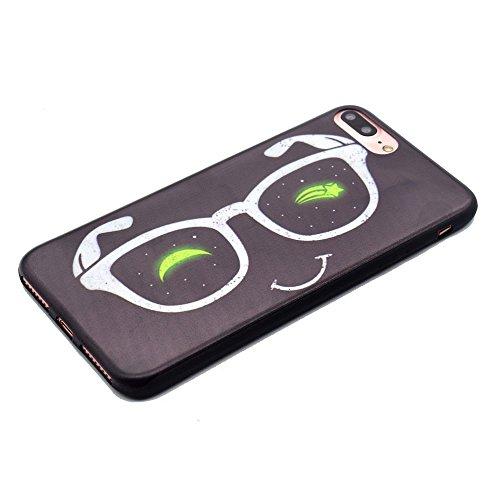 "HYAIT® For IPHONE 7 PLUS 5.5"" [XXG BLACK V2]Scratch-Proof Ultra Thin Rubber Gel TPU Soft Silicone Bumper Case Cover -BKI08"