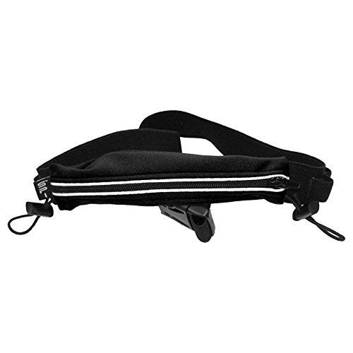 - SPIbelt Endurance Race Belt with Race Bib Toggles and Reflective Trim (Black, One Size)