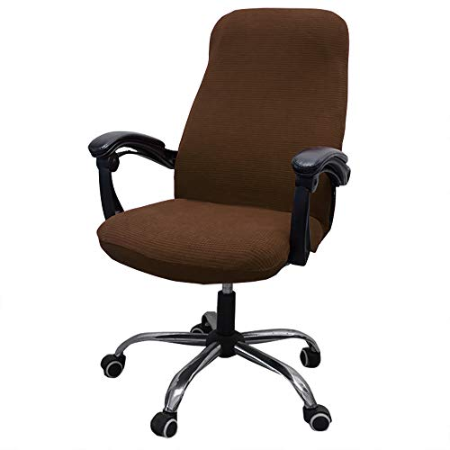 Melaluxe Office Chair Cover - Universal Stretch Desk Chair Cover, Computer Chair Slipcovers (Size: L) - Light Coffee