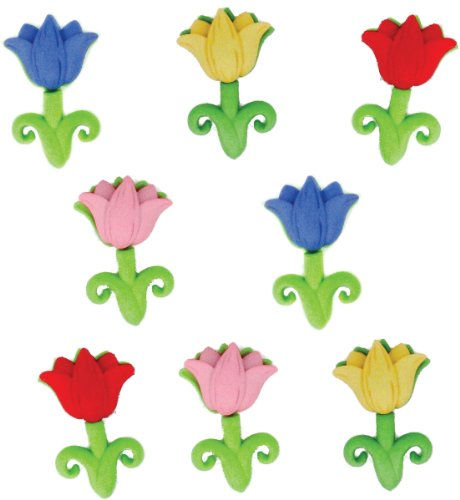 Tulip Buttons - Jesse James (1-Pack) Dress It Up Buttons Easter Collection #5299 Easter Tulips 5299-1P