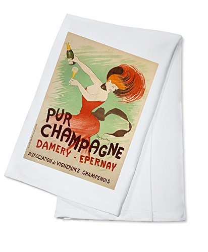 Pur Champagne - Damery - Epernay Vintage Poster (artist: Cappiello, Leonetto) France c. 1902 (100% Cotton Kitchen - Champagne Cappiello Leonetto