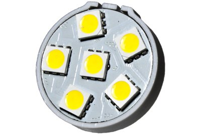 High Base 6 (CBConcept 6XLEDG4BP6SMD-WW+C LED Disc Type G4 Base Lamp Back Pin with 6 High Power 5050SMD LEDs,With Cover, 12 Volt, JC G4 Bi-pin Bulb Replacement for RV Camper Trailer Boat Marine,0.8 Watt 75 Lumen - Warm White Color (3000k) - 6 Bulbs)