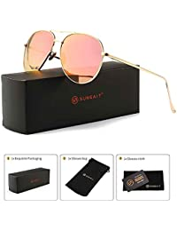 Women's Lightweight Oversized Aviator sunglasses -...