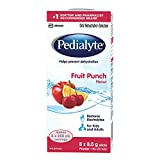 Pedialyte®, Electrolyte Powder Sticks, Oral Rehydration Solution, Fruit Punch, 8 x 8.5 g