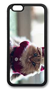 MOKSHOP Adorable funny clothed cat Soft Case Protective Shell Cell Phone Cover For Apple Iphone 6 Plus (5.5 Inch) - TPU Black by Maris's Diary