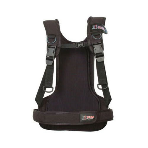 XS Scuba Pony Pac Scuba Tank Harness - RG ,Black ,Regular, waist 35-45