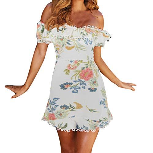 - Big Sale YetouWomen's Fashion Summer Leisure Sexy Open-Cross Women Off Shoulder Printed Dresses White