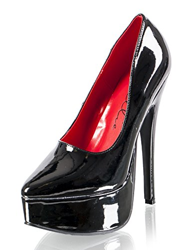 Ellie Shoes Womens 652-prince 6 1/2 Heel Platform Pump, 14, Nero