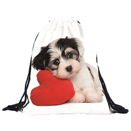 Internet Unisex Hund 3D Druck Taschen Rucksack