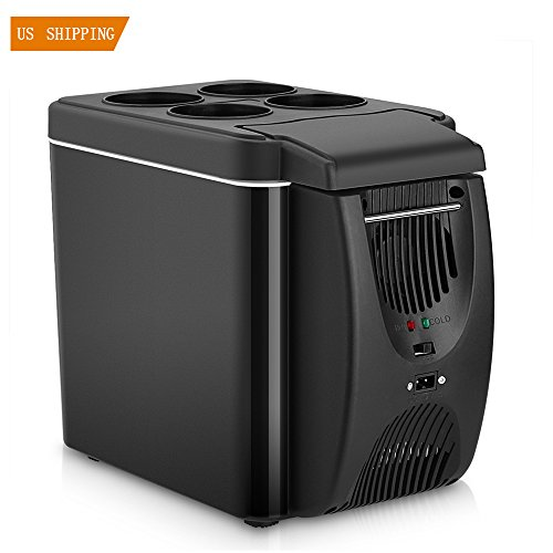 Mini Car Freezer Cooler Warmer 6L Electric Fridge Portable Icebox Travel Refrigerator Cooler Box With Dc 12V For Truck Party  Boat Party  Travel  Picnic Outdoor  Camping
