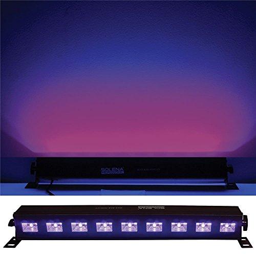 Solena Max Bar Mini UV 9x3-Watt LED UV DJ & Stage Black Light by Solena Professional (Image #4)