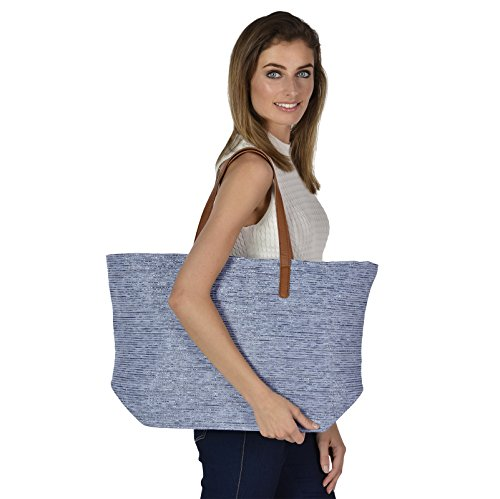 Blue Shopping Woven Holiday Tote Bag Sparkle Brown Straw Shoulder Ladies Beach Handles Paper xvCHUC