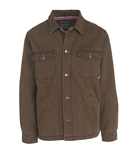 Woolrich Men's Standard Dorrington Shirt Jacket, Saddle, Small