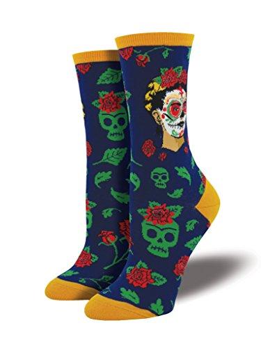 Socksmith Womens Dia De Los Frida Casual Sock