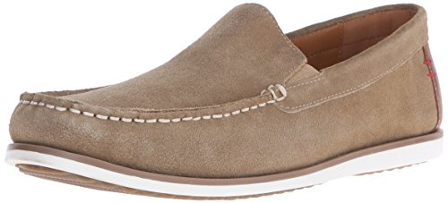 Hush Puppies Men's Bob Portland Slip-On Loafer, Taupe Suede, 14 M US