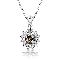 Cafe Diamond Gemstone White Gold Pendant