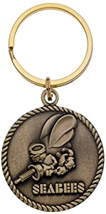 US Navy Seabees Keychain Military Products Key Rings Can Do Seabees Gifts Unisex