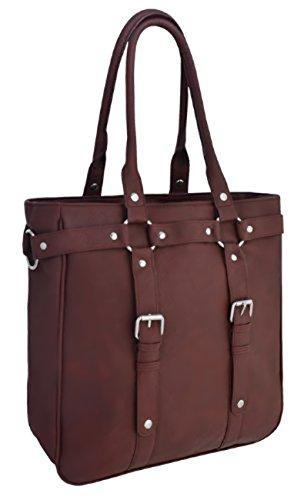 Vintage HandBag Womens Shoulder Red Harper Tote EyeCatch Style Dark Faux Leather Bag xpZEqK0w4