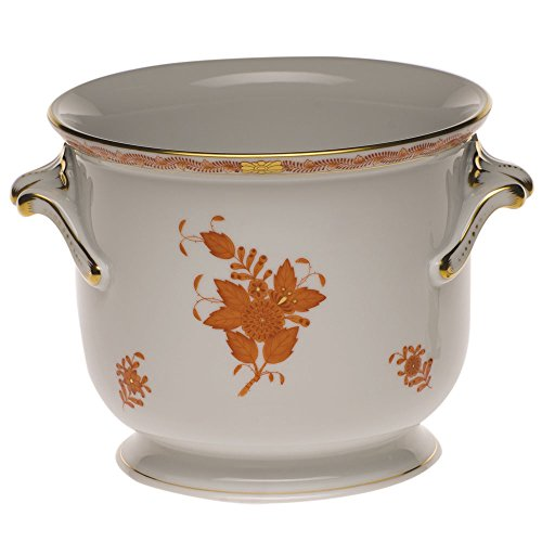 Herend Chinese Bouquet Rust Cachepot