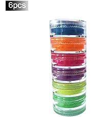 lingzhuo-shop Polvo de Uñas Efecto Espejo Acrilicas Efecto Holografico Sombra de Ojos Brillantes Paleta de Sombras de Ojos Brillantes Uñas de Neón Mate de Pigmento de Brillo Duradero