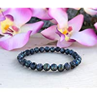 Labradorite Bracelet 6mm, Labradorite Protection Bracelet, Block Negative Energy Bracelet, Choose the Size