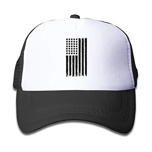 SFT Kid's USA Police Flag Trucker Baseball Cap Adjustable Mesh Hat Girl Boy ()