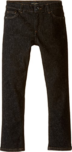 Dolce Gabbana Black Jeans (Dolce & Gabbana Kids Boys' Back To School Black Jeans, Charcoal Denim, 8 (Big Kids) X One Size)
