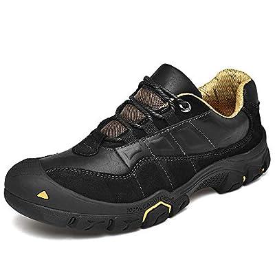 CEKU Men's Outdoor Hiking Leather Sneakers Walking Boots Casual Work Trekking Sports Climbing Shoes | Hiking Shoes