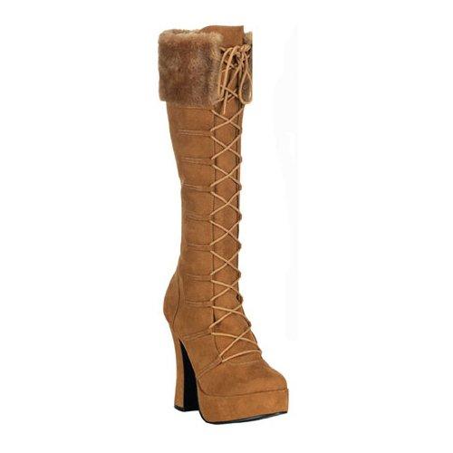 (Funtasma by Pleaser Women's Electra-2036 Platform Boot,Tan Microfiber,6 M)