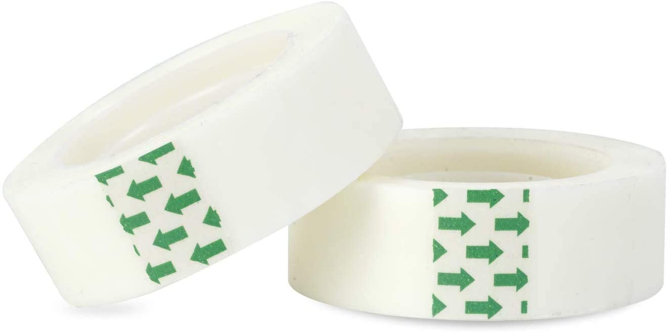 0.7 inches for Office 16 Rolls School Home Invisible Tape Transparent Tape Refills
