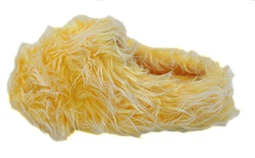 Faire Des Vagues Jaune Pantoufles Floue Super Velue Des Femmes