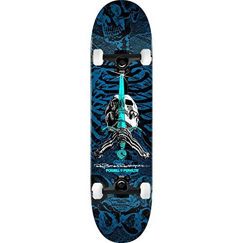 Blue Skull Skateboard - Powell-Peralta Skateboard Skull and Sword Blue 8