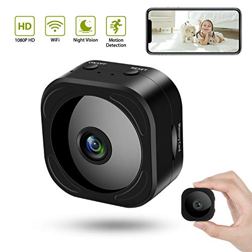 Hidden Camera Wireless 1080P WiFi Mini Camera with Motion Detection Night Vision as Nanny Baby Cam Security Video Recorder for Home Office Indoor with Remote Monitoring for iPhone Android Phone iPad